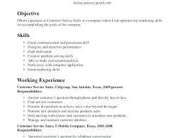 resume exles skills customer resume exles work of resumes service sles sle