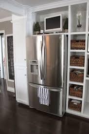 refrigerator kitchen cabinets kitchen decoration