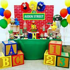 1st birthday boy themes birthday inspiration sesame theme party noah s
