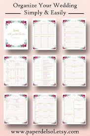 wedding checklist book wedding planner printable wedding planner book binder printables