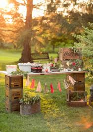 outdoor wedding movie night 100 layer cake