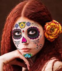 floral day of the dead sugar skull temporary kit 1