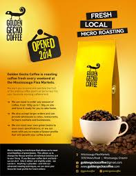 design flyer bold modern flyer design for golden gecko coffee by theziners