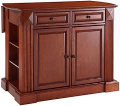 cherry kitchen island amazon com crosley furniture drop leaf kitchen island breakfast