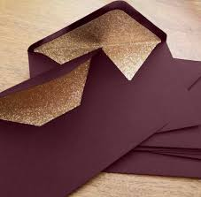 Wedding Envelopes Marsala And Rose Gold Glitter Lined Wedding Envelopes 10 In
