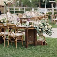 wedding table rentals rustic wedding and event rentals san diego