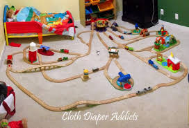 thomas the train wooden track table chuggington vs thomas wooden railway cloth diaper addicts