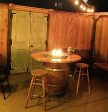 Wine Barrel Fire Pit Table by Wine Country Fire Pits