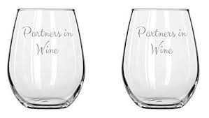 graduation wine glasses anniversary gifts partners in wine set couples