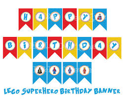superhero birthday bannerbirthday party instant download