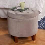 homepop velvet tufted round ottoman with storage walmart com