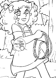 candy lasso anime coloring pages for kids printable free