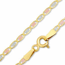 tone gold necklace images 10k tri tone gold 2 1mm pav fashion chain necklace 18 quot gold jpg