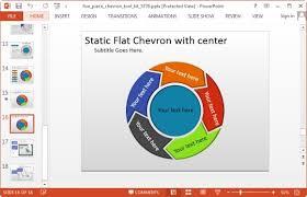 100 powerpoint circular arrow template five circle arrow flow