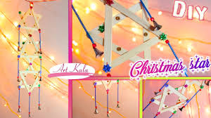 diy how to make christmas star popscile stick crafts artkala