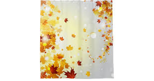 colorful fall leaves shower curtain zazzle