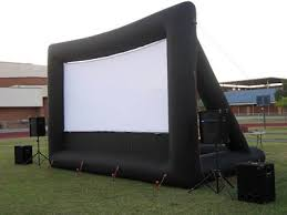 columbus inflatable outdoor movie screen rental projection