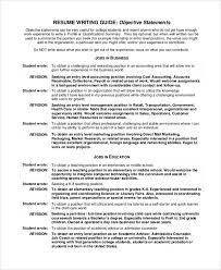 Job Objective Samples For Resume by Objective Statement Resume Doc Resume Objective Examples For