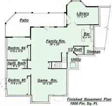 floor plans with basements beautiful home floor plans with basements home plans design
