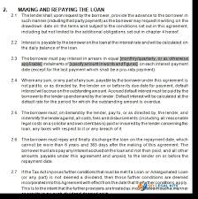 sample personal loan contract sample loan contract 8 examples in