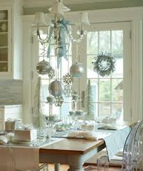 dining room interesting christmas dining room with silver balls