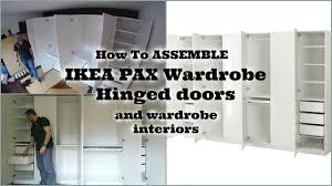 Hinged Wardrobe Doors Ikea Pax Wardrobe Youtube