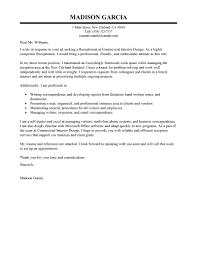 cover letter receptionist cover letter samples cover letter