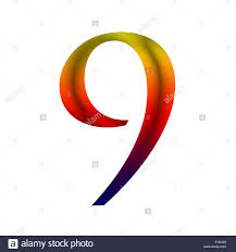 number nine 9 made from rainbow color stock photo royalty free