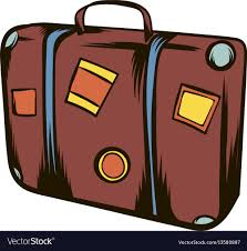 travel suitcase images Brown travel suitcase icon cartoon royalty free vector image jpg