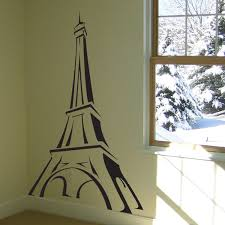 eiffel tower sketch vinyl wall decals