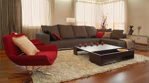 furniture modern minimalist living room design with dark brown u