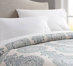Pottery Barn Alessandra Duvet Blue Bedding Pottery Barn