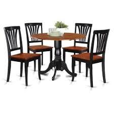boraam industries 6 piece shaker dining set black oak like the