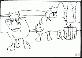 good cow coloring pages printable with cow coloring page
