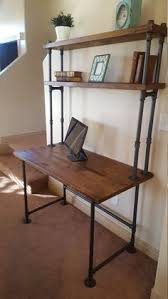 Steel Pipe Desk by Industrial Pipe And Walnut L Shaped Desk With Shelves Pallet