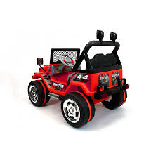 kids red jeep xtreme 12v ride on off road 4x4 two seater jeep in red xtreme toys