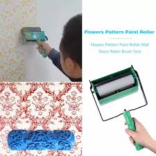 what type of paint roller to use on kitchen cabinets 5 inch flowers pattern paint roller wall decoration roller brush tool for home wall printed brush single colors type