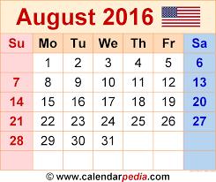 august 2016 calendar 2017 printable calendar