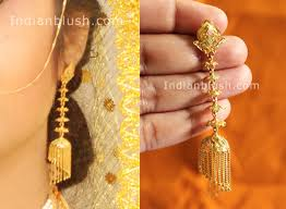 gold earrings for marriage indian blush traditional bengali gold wedding jewellery part ii