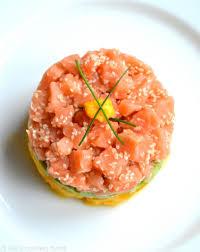 tartare cuisine salmon tartare with avocado mango s cooking twist