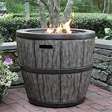 Amazon Com Wine Barrel Propane Fire Table Garden Outdoor