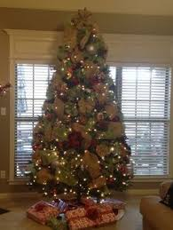 Decorate Christmas Tree With Deco Mesh by Christmas Trees With Mesh Ribbon Deco Mesh