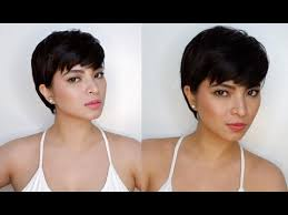 pinoy short hair style angel locsin beautiful in pixie hair short hair youtube