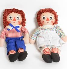 pair of vintage raggedy ann and andy dolls ebth
