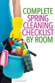 Springcleaning Complete Spring Cleaning Checklist By Room