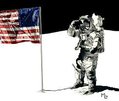 American Flag On The Moon Mark Lane U0027s Drawings