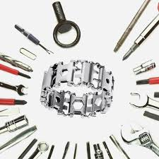 bracelet multi tool images Stainless steel multi tool bracelet cool and crazy trends jpg