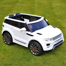 matte white range rover maxi range rover hse sport style 12v electric battery ride on car