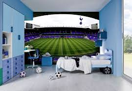 simple girls bedroom design with pink paint colors schemes and football team wall murals tottenham hotspur stadium design office chair office furniture ideas decorating