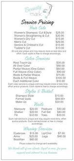 jcpenney hair salon price list jcp salon located inside jcpenney service menu business